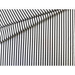 Tkanina bawełniana, materiał w biało czarne pasy