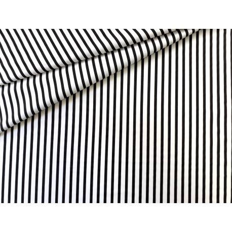 materiał w biało czarne pasy