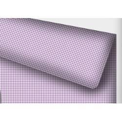 tkanina bawełniana pepitka fiolet